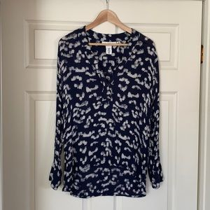 Women's Blouse with white & blue pattern from H&M